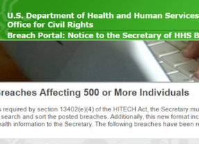 OCR's Wall of Shame Under Review by HHS