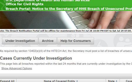 OCR Data Breach Portal Update Highlights Breaches Under Investigation