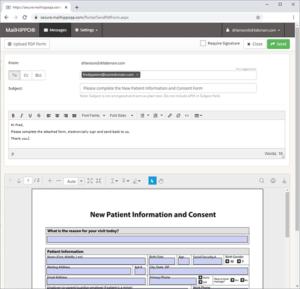 Sending a PDF Form with e-signature via the MailHippo platform