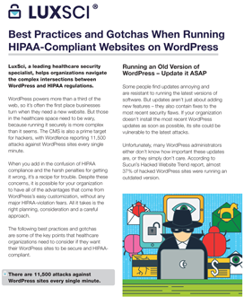 Best Practices and Gotchas When Running HIPAA-Compliant Websites on WordPress