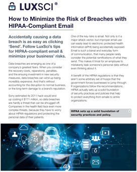 How to Minimize the Risk of Breaches with HIPAA-Compliant Email