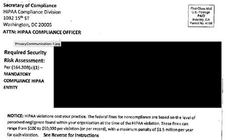 OCR Warns of Postal Scam Targeting HIPAA Compliance Officers