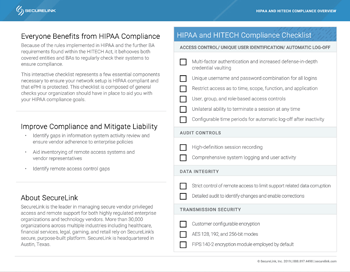 HIPAA and HITECH Compliance Checklist